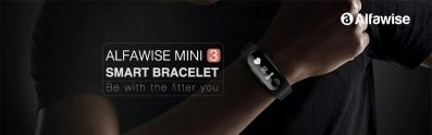 $15 with coupon for Alfawise Mini 3 Smart Bracelet from GearBest
