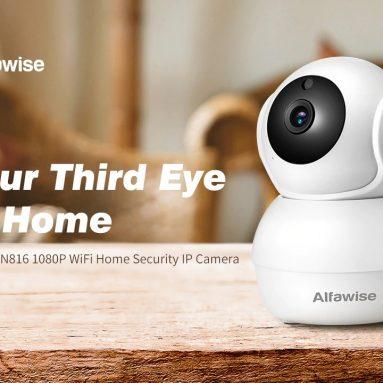 $ 28 met coupon voor Alfawise N816 AI Humanoïde detectie 1080P WiFi IP-camera Smart Home Security met H.265-videocodering van GEARBEST