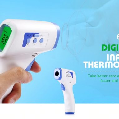 $6 with coupon for Alfawise Non-contact Body Infrared Thermometer Gun – WHITE from GearBest