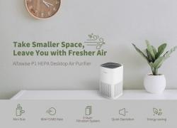 $ 34 s kupónom pre Alfawise P1 HEPA Mini Desktop čistička vzduchu - White Air čistička EU sklad od GEARBEST