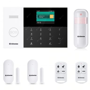 $59 with coupon for Alfawise PG – 105 GSM WiFi 433MHz Wireless Smart Home Security Alarm System DIY Kit – BLACK EU PLUG from GearBest