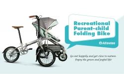 $ 899 mit Gutschein für Alfawise Recreational Parent-Child-Klapprad - ORANGE PINK von GearBest