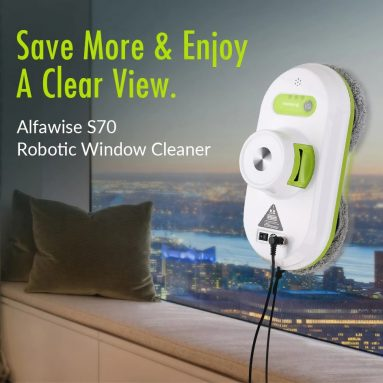 $124 with coupon for Alfawise S70 Automatic Outdoor Vacuum Window Cleaner Robot with EU Plug from GEARBEST