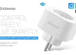 $9 with coupon for Alfawise PE1004T Smart Plug EU Standard Works with Alexa Google Home from Gearbest