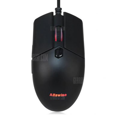 $13 with coupon for Alfawise V10 A3050 USB Wired Gaming Mouse  –  BLACK from GearBest