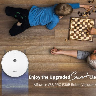 $159 with coupon for Alfawise V8S PRO E30B Robot Vacuum Cleaner with Smart Mopping from GEARBEST