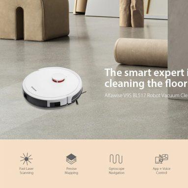 $ 239 अल्फावीस V9S BL517 रोबोट वैक्यूम क्लीनर के लिए कूपन के साथ लेजर नेविगेशन और स्मार्ट एमओपी यूरोपीय संघ से GEARBEST