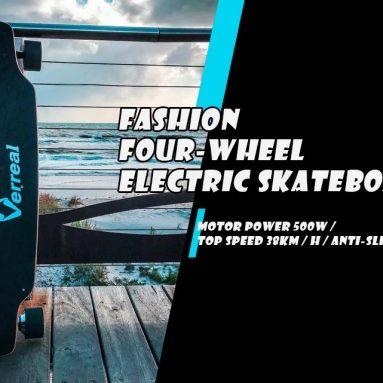 $ 349 với phiếu giảm giá dành cho Alfawise Verreal VRLF1001 Dual Hub Motor skateboard skateboard từ GEARBEST