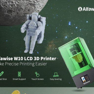 193 € s kupónem pro Alfawise W10 LCD SLA pryskyřice 3D tiskárna - Zelená EU Plug EU WAREHOUSE od GEARBEST