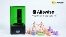 $ 289 Alfawise W20 UV LCD için kuponlu 3D Yazıcı 2K Çözünürlük İnşa Hacmi 120 x 68 x 170mm - GEARBEST'den Yeşil AB Fişi
