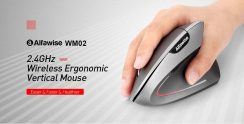 $6 with coupon for Alfawise WM02 Vertical Wireless 2.4GHz Mouse from GearBest
