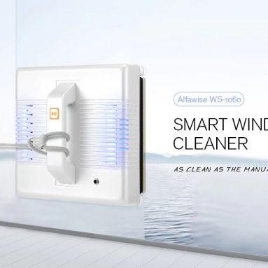 $ 179 z kuponem na aplikację Alfawise WS-1060 Sterowanie inteligentnym robotem Odkurzacz do okien Maszyna do czyszczenia szkła na zewnątrz 99% Szybkość czyszczenia od GEARBEST