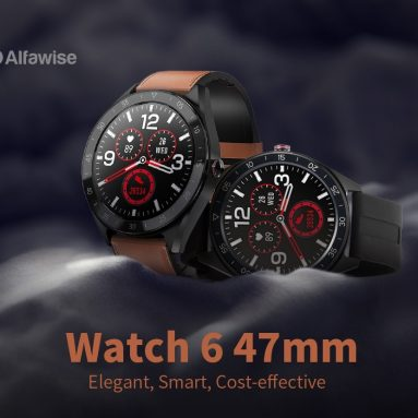 $38 with coupon for Alfawise Watch 6 47mm Smart Watch 24 Hours Health Data Monitor 7 Sports Modes Call Message Reminder Music Camera Control – Brown from GEARBEST