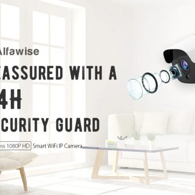 $34 with coupon for Alfawise Wireless 1080P HD Smart WiFi IP Camera from GearBest
