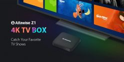 €59 with coupon for Alfawise Z1 TV BOX with 2.4G Voice Control – BLACK 3+32G EU from GEARBEST