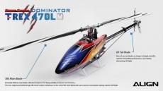 € 430 עם קופון ליישור T-REX 470LM 470L Dominator RC מסוק RH47E01XT סופר קומבו מבנגגוד