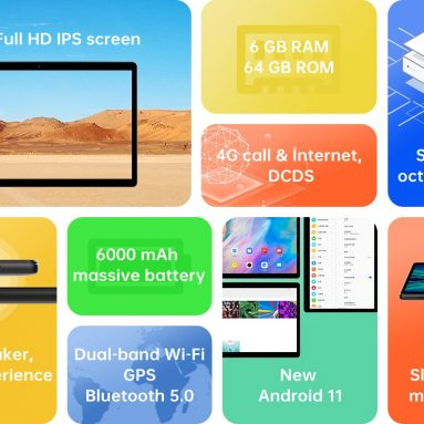 133 eura sa kuponom za Alldocube iPlay 20S SC9863A Octa Core 6 GB RAM 64 GB ROM 4G LTE 10.1 inčni Android 11 tablet od BANGGOOD