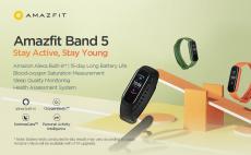 33 € с купоном на Amazfit Band 5 Встроенный Alexa 1.1-дюймовый браслет AMOLED-монитор кислорода в крови 11 Трекер спортивных режимов BT5.0 Умные часы Глобальная версия от BANGGOOD
