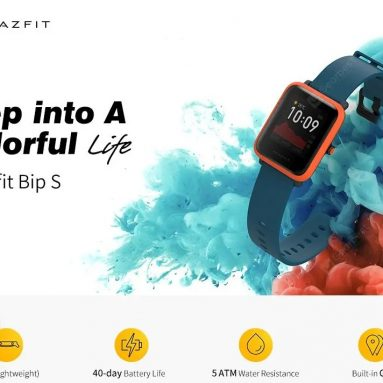 70 € s kupónom pre Amazon Bip S Smart Watch 1.28 palcový TFT displej, 40 dní výdrže batérie, 5 ATM, vodotesný, 10 športových režimov, duálny systém GPS, globálna verzia - čierna od GEARBEST
