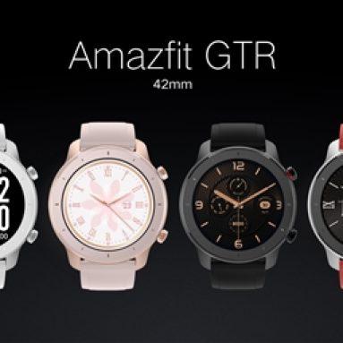 $ 105 na may kupon para sa Amazfit GTR 42MM Smart Watch 12 Days Battery Music Control 5ATM Wristband International Bersyon mula sa xiaomi Eco-System - Itim mula sa BANGGOOD