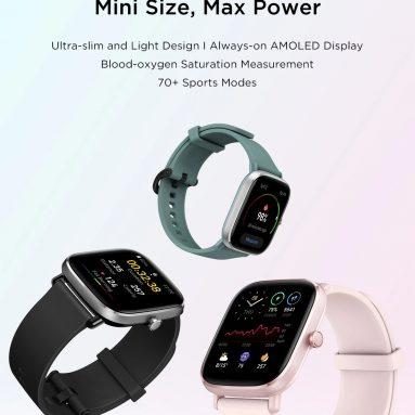 78 € са купоном за глобалну верзију Амазфит ГТС 2 Мини ГПС Спортски паметни сат Блуетоотх 5.0 Женски циклус за праћење откуцаја срца 14 дана Трајање батерије од АЛИЕКСПРЕСС