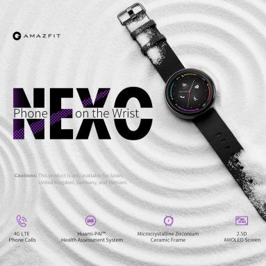 € 183 với phiếu giảm giá cho Amazfit Nexo 4G Điện thoại đồng hồ thông minh 512MB 4GB Tích hợp màn hình AMOLED eSIM 1.39 inch 454 x 454 Độ phân giải 10 từ GEARBEST
