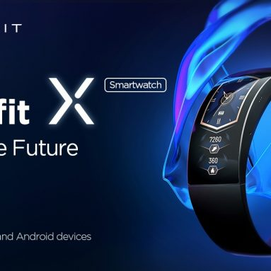 €183 with coupon for Amazfit X 92° Curved 2.07 AMOLED Display Smart Watch GPS+GLONASS PPG Blood Oxygen Monitor 5ATM Waterproof Wristband from BANGGOOD