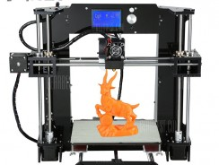 $169 with coupon for Anet A6 3D Desktop Printer Kit  – BLACK from GearBest