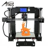 $181 with coupon for Anet A6 3D Desktop Printer Kit  –  US PLUG  BLACK from GearBest