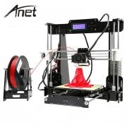 $ 129 с купоном для Anet A8 Desktop 3D Printer Prusa i3 DIY Kit - EU PLUG BLACK от GearBest