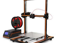 $308 with coupon for Anet E12 Large Size 300 x 300 x 400 3D Printer DIY Kit  –  EU  ORANGE from GearBest