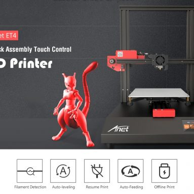 €227 with coupon for Anet ET4 Quick Assembly Touch Control 3D Printer – Black EU Plug from GEARBEST