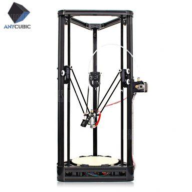 Anycubic Kossel için Kuponlu $ 129 Yükseltilmiş Kasnak Sürümü Bitmemiş 3D Yazıcı - YAZICI MALZEME + BRAKETİ İLE - EU PLUG BLACK'den GearBest