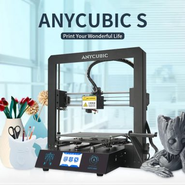 €185 with coupon for Anycubic® i3 Mega S Upgraded 3D Printer DIY Kit 210*210*205mm Print Size With Ultrabase Platform/Filament Sensor/Auto Resume Print/Suspended Filament Holder from BANGGOOD