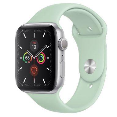 € 400 مع كوبون لـ Apple iWatch Series 5 Smart Sports Watch Health Tracker Fitness Record Bluetooth 4G Smartwatch GPS Version - Multi-A 40mm Gold Aluminum Case with Pink Sand Sport Band من GEARBEST