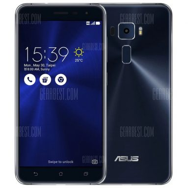 $256 with coupon for Asus ZenFone 3 (ZE552KL) 64GB ROM 4G Phablet  –  LAKE BLUE from GearBest