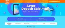 बैंगगूड सेवर डिपॉज़िट सेल सबसे कम कीमत प्राप्त करें, २,५२ € / ३$ जमा करें और ७ जुलाई से शेष राशि का भुगतान करें