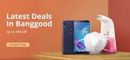 מכירת אביב BANGGOOD - מבצעים וקופונים רבים לכל מיני מוצרים מסמארטפונים ועד מסכות פנים