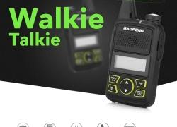 $ 26 với phiếu giảm giá cho BAOFENG T1 Mini Walkie Talkie Wireless FM Radio 2PCS - EU đen từ GearBest