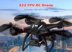$166 with coupon for BAYANGTOYS X22 1080P WiFi FPV RC Drone 3-axis Gimbal – BLACK EU warehouse from GearBest