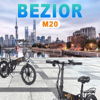 €671 with coupon for BEZIOR M20 350W 20 Inch Folding Power Assist Electric Bike from EU GER warehouse TOMTOP