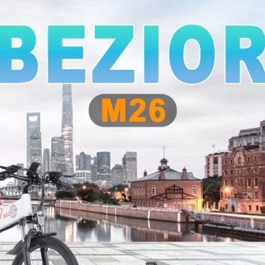 €804 with coupon for BEZIOR M26 500W 26 Inch Folding Electric Bicycle from EU GER warehouse TOMTOP