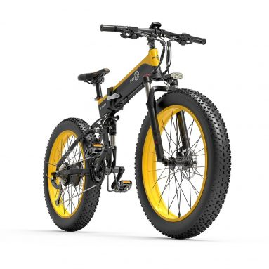 €1185 with coupon for BEZIOR X500 500W Folding Electric Bike 26 x 4 Inch Fat Tire Snow Bike from EU GER warehouse TOMTOP