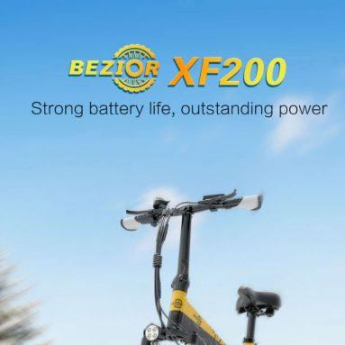 € 1258 med kupong för BEZIOR XF200 1000W motorfällbar elektrisk mopedcykel från EU GER -lager TOMTOP