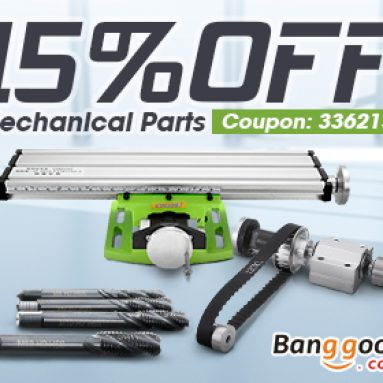 15% OFF Coupon for Mechanical Parts from BANGGOOD TECHNOLOGY CO., LIMITED
