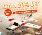 Extra 20% OFF for RC Airplane for fun from BANGGOOD TECHNOLOGY CO., LIMITED