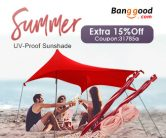 15% OFF for Summer UV-Proof Sunshade from BANGGOOD TECHNOLOGY CO., LIMITED