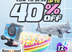 Low to $2.99 for 12th Anniversary USA Direct Promotion from BANGGOOD TECHNOLOGY CO., LIMITED