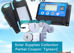 Up to 50% OFF for Solar Supplies Collection from BANGGOOD TECHNOLOGY CO., LIMITED