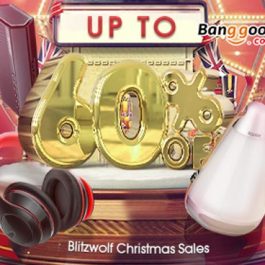 BANGGOOD TECHNOLOGY CO., LIMITED에서 제공하는 Blitzwolf Christmas Sales의 최대 60 % OFF